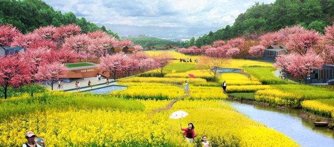 """[河南]""""一河五园""""生态农业郊野田园型森林公园景观设计方案"""