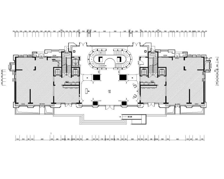 香港无间-万科北京翡翠长安会所项目平面CAD