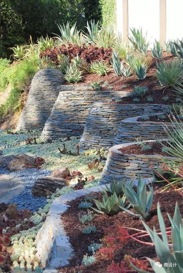 各式各样的庭院景观墙,美_7