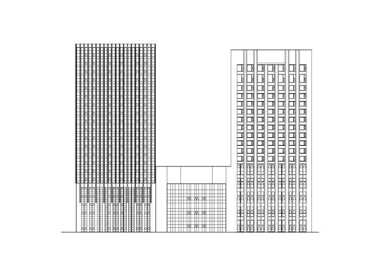 [江苏]现代塔式办公酒店住宅商业综合体施工图(CAD)