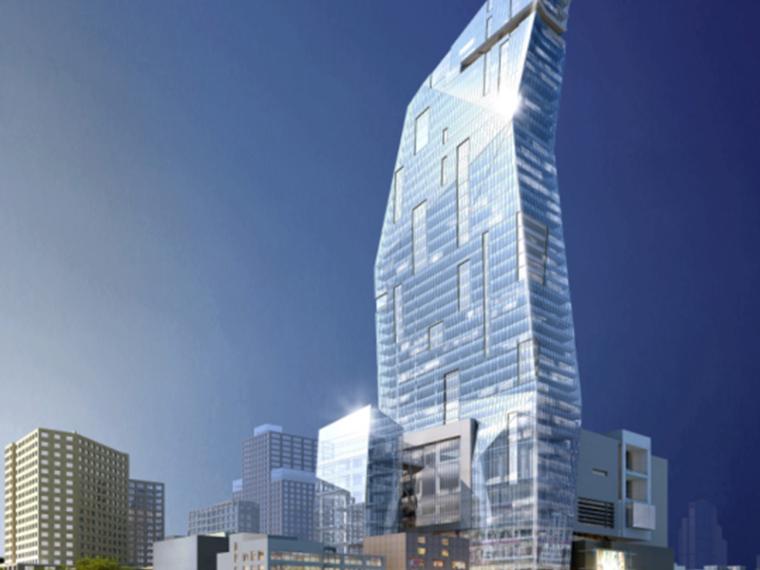 未来感综合性商场办公楼建筑设计方案文本