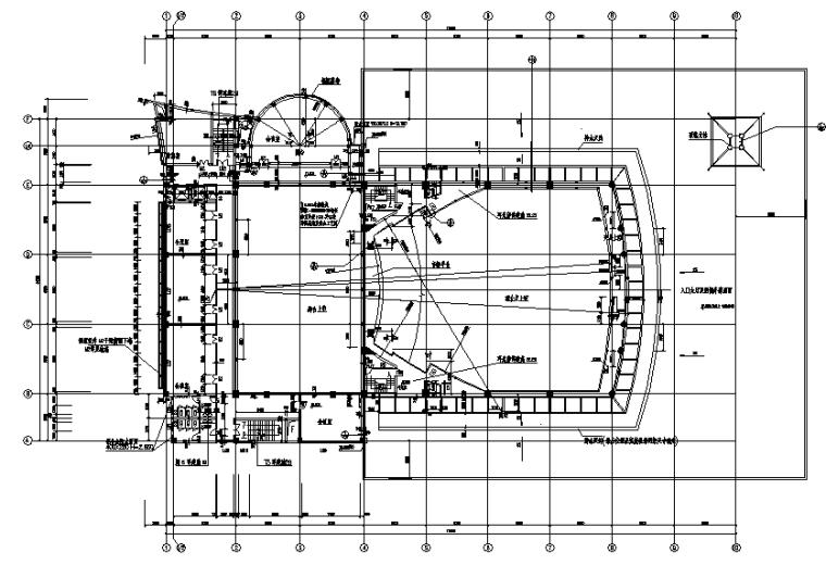高层框剪结构南海影剧院施工图(全套图纸)