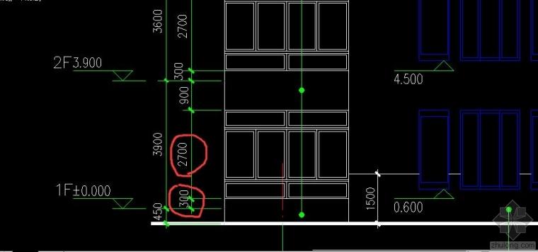 为什么窗的标高要加上墙的100,图纸上木有啊!!跪谢各位大虾了_1