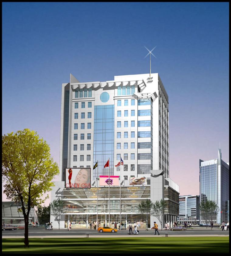 东站商务办公综合楼建筑设计方案(CAD施工图)