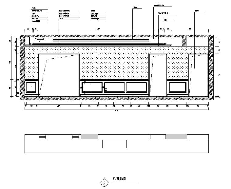 【四川】新中式美式混搭风格样板房设计施工图(附效果图)_2