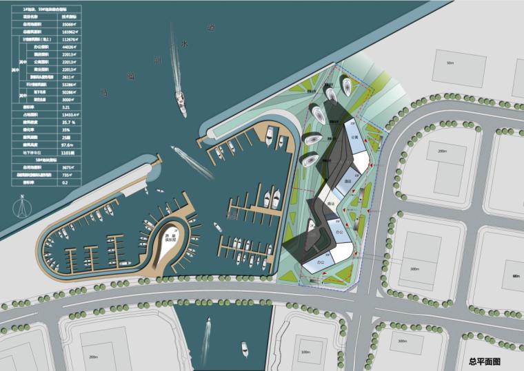 高层风帆造型城市综合体建筑BIM方案_2