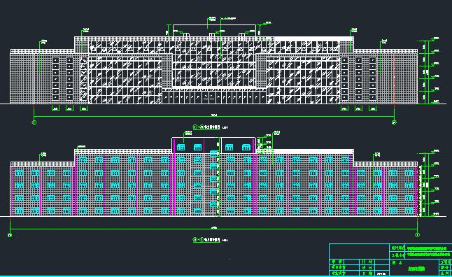 10层扇形办公室钢框架建筑结构施工图_1