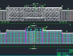 10层扇形办公室钢框架建筑结构施工图