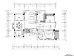 [深圳]欧式风格四居室住宅空间施工图(含效果图)