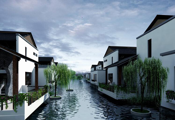 [四川]成都力迅青城景观案例文本-主水体效果图