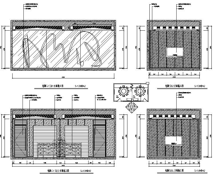 [福建]混搭风格海鲜主题餐厅设计施工图(附效果图)