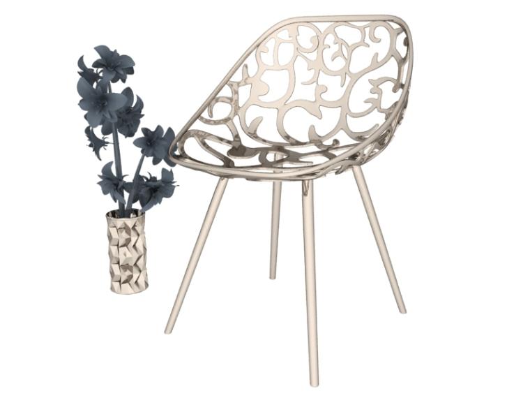 不锈钢椅子3D模型下载-不锈钢椅子