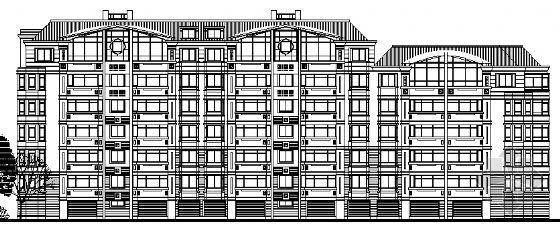 某小区多层住宅群建筑方案图