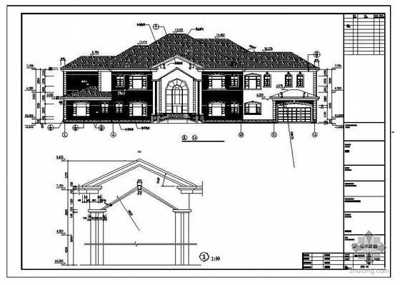 东莞某三层A2型轻钢别墅建筑结构图