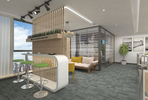 280平方小型办公室装修设计案例效果图 创意方案设计 筑龙建筑设计论
