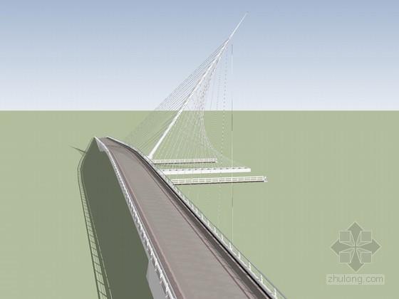 跨江大桥SketchUp模型下载