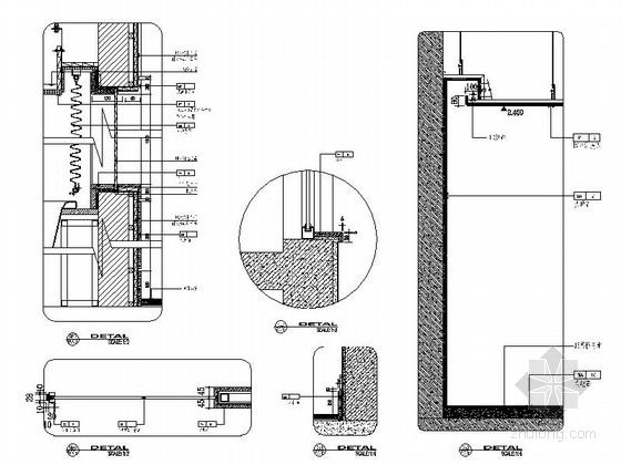 [甘肃]44平方客房设计节点图