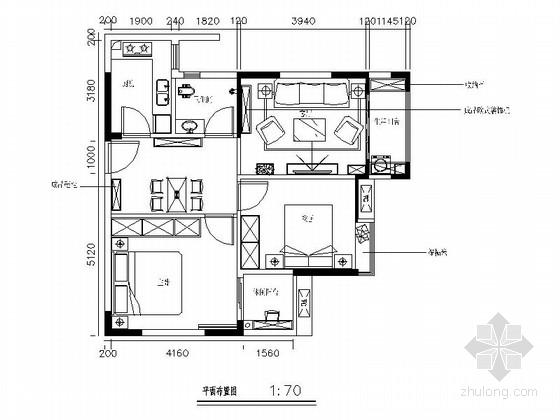 [上海]精致简欧风格两居室室内装修施工图