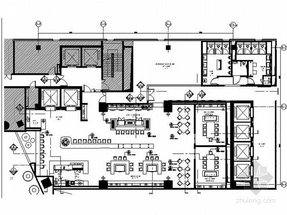 [上海]商业区豪华现代风格酒店餐厅室内装修施工图(含效果)