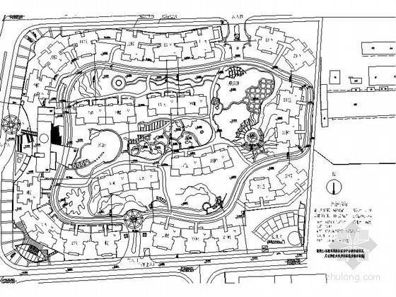 某5万平米方形地块居住区规划方案总平面图