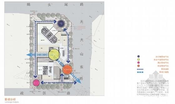 现代风格超高层办公楼设计方案分析图