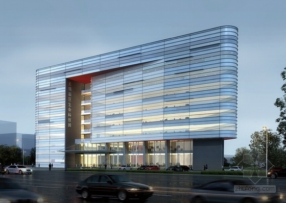 [江苏]科技园区管理服务中心建筑设计方案文本(垂直绿化)-科技园区管理服务中心效果图