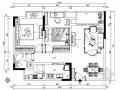 [重庆]知名楼盘欧式风情两居室样板房装修施工图