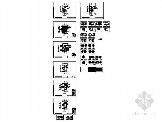 [沈阳]地产集团时尚现代三居室样板间装修图资料图纸总缩略图