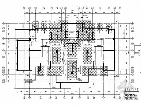 [安徽]28层剪力墙结构住宅结构施工图(CFG桩平板式筏板基础)