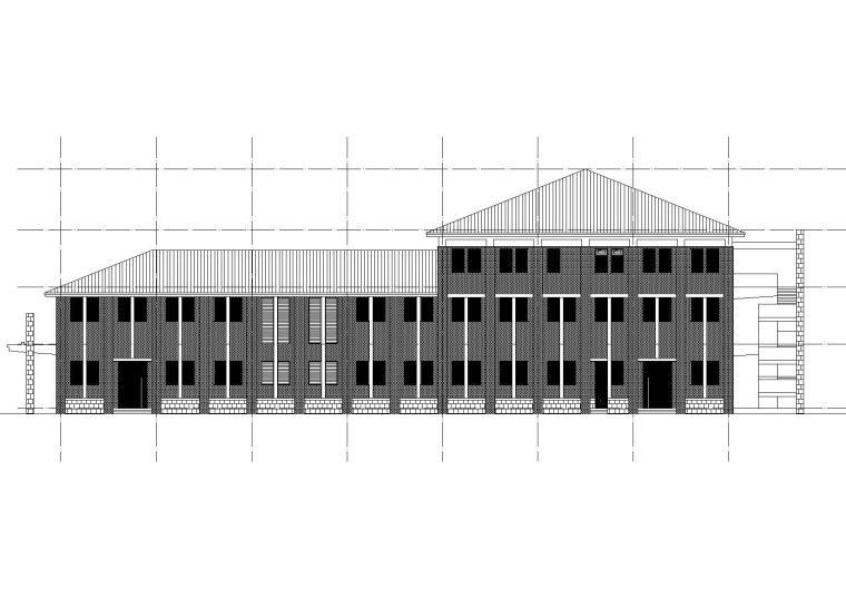 洛阳师范学院第一食堂立面图2