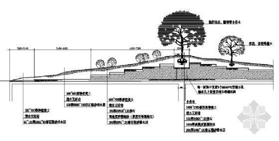 土坡泡沫垫层详图-2