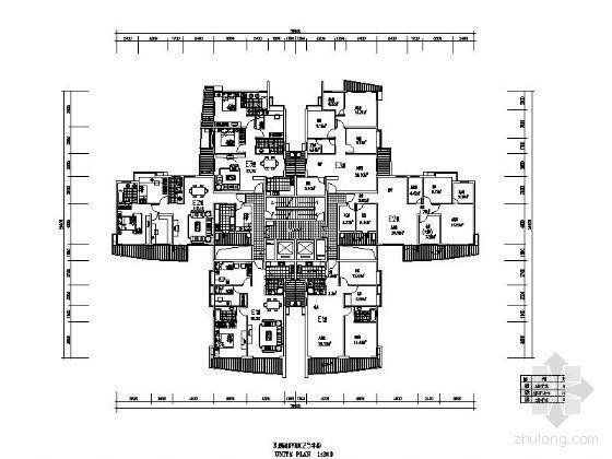 [深圳]某著名小区规划平面图