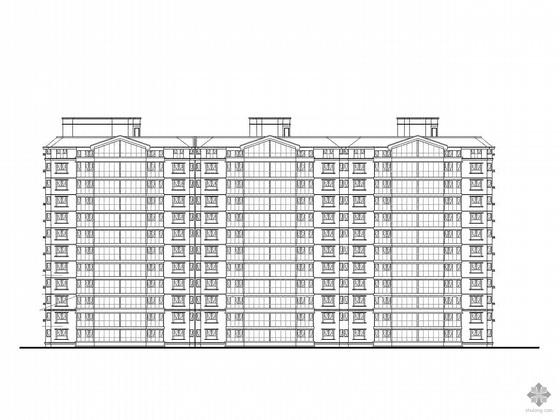 [济南]某十一层板式住宅楼建筑施工图