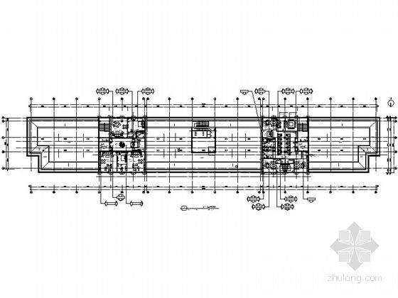 [内蒙古]某欧陆风格国际酒店商务办公区室内装修施工图