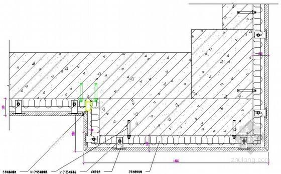干挂石材柱子横剖节点详图