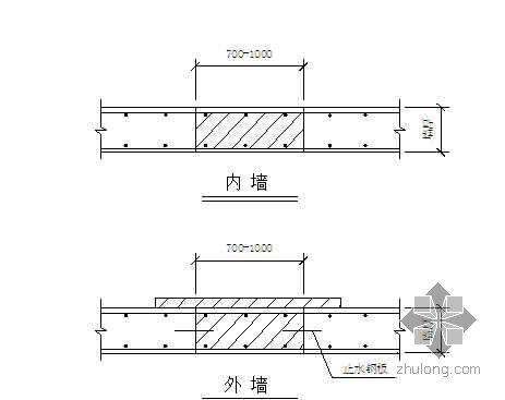 大型建筑工程后浇带加强带施工工法
