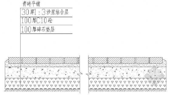 青砖平铺路结构详图