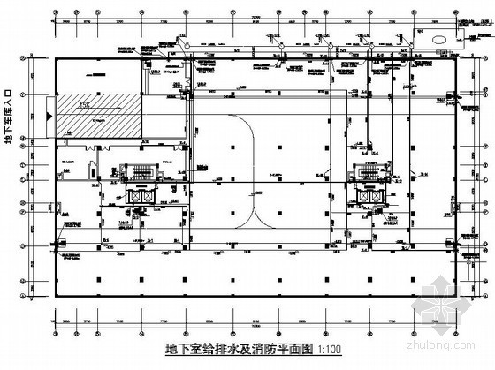 赣县梅林镇梅林某大厦商住楼给排水全图