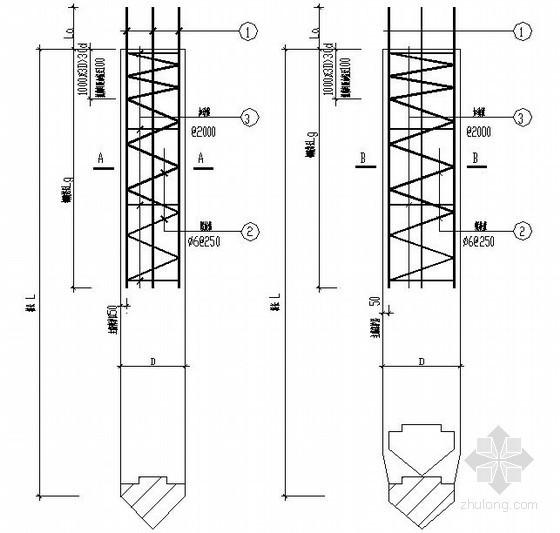 沉管灌注桩节点构造详图