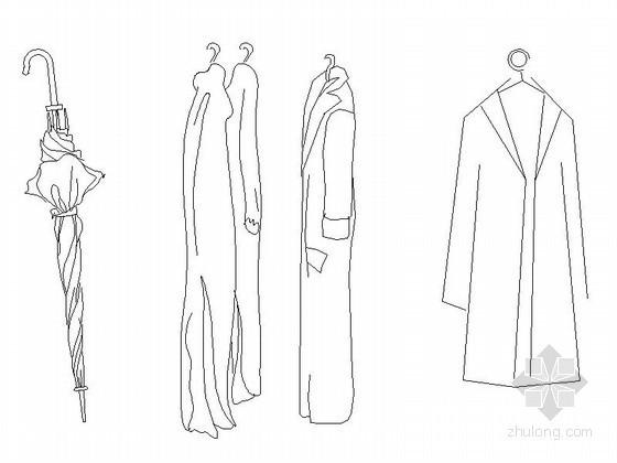 现代风格衣柜饰物CAD图块下载