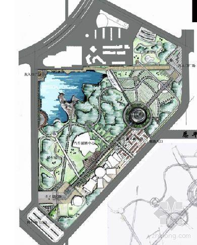 Isuzu汽车博物馆景观资料下载-[吉林]汽车文化公园景观设计方案全套