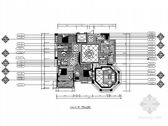 [广东]某欧式风格四室两厅室内装修施工图(含效果)