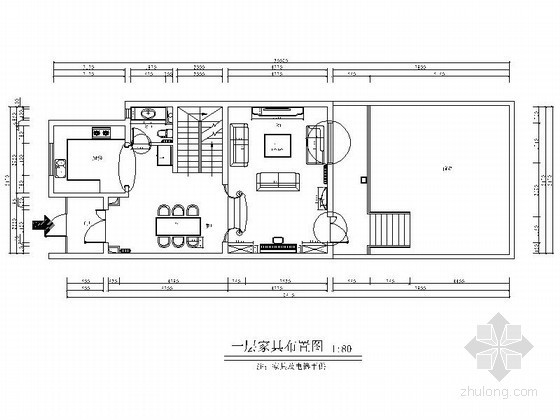 [北京]某三层别墅全套平面图