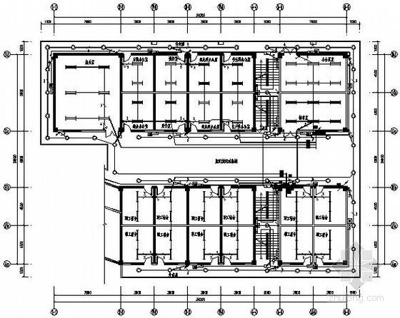 矿业厂区服务用房电气施工图纸