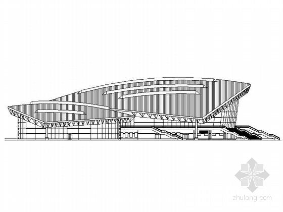 [黑龙江]高层框架结构乙级综合性体育馆建筑施工图