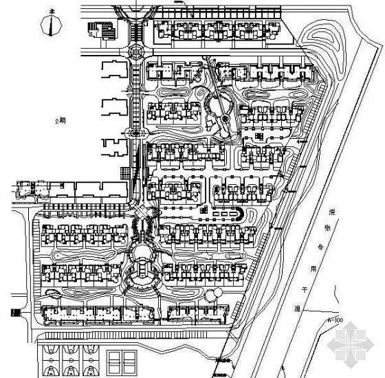 小区名雅居全套景观施工图