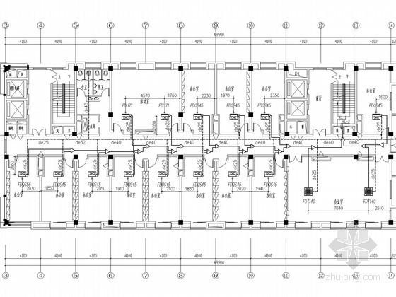 VRV风管机空调图资料下载-[浙江]办公楼VRV舒适性中央空调系统设计施工图