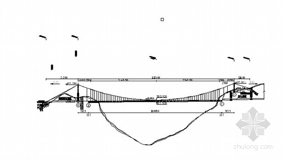 [湖南]双向四车道高速公路悬索特大桥设计图(全套)
