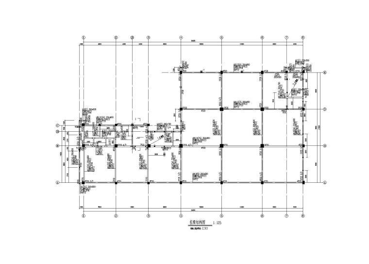 [常州]4层框架结构厂房结构施工图(2015)