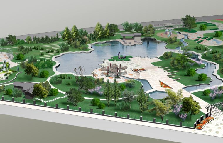 [浙江]杭州丁桥镇公园中标景观方案文本PSD(含CAD平面图)